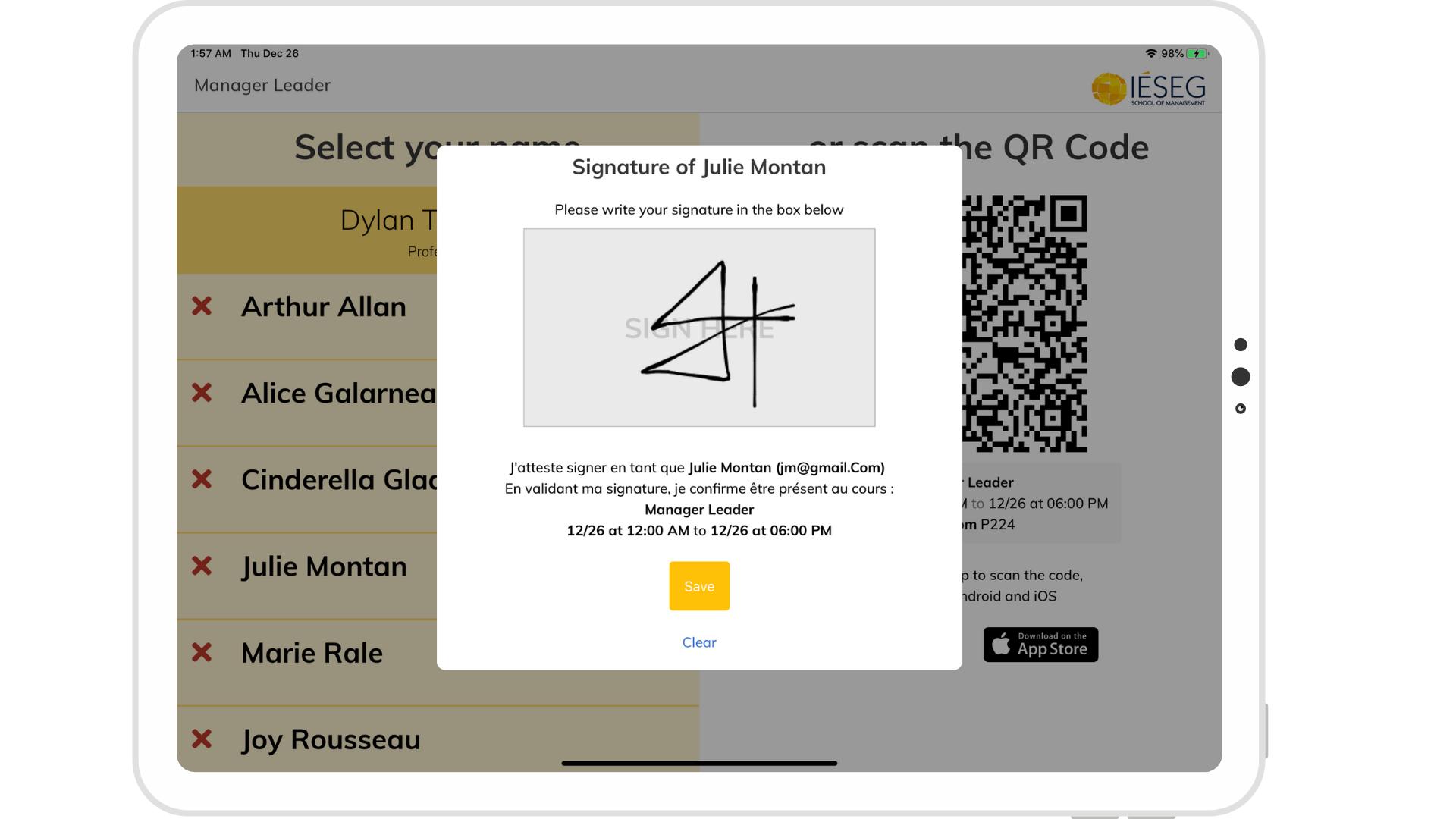 Tablette signature électronique